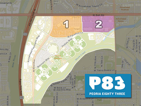 Peoria P83 Entertainment District Map