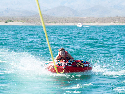Tubing at Lake Pleasant